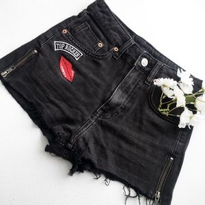 🖤H&M Jean Shorts w/zippers on the sides